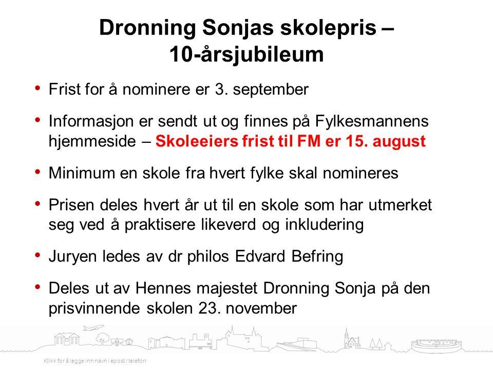 Dronning Sonjas skolepris – 10-årsjubileum