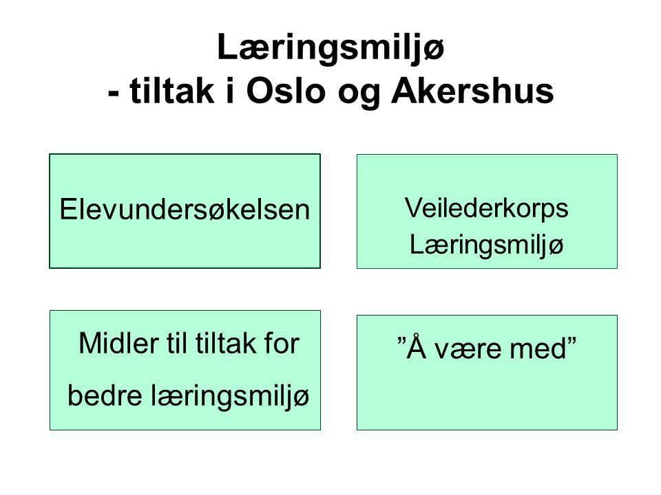 Læringsmiljø - tiltak i Oslo og Akershus