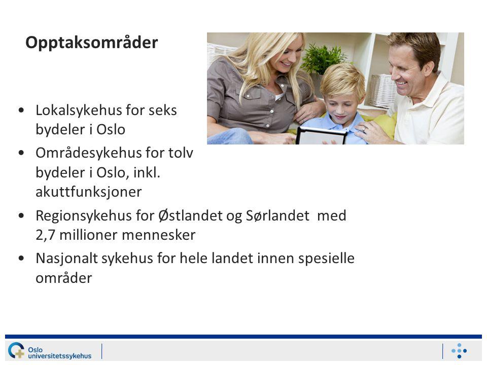 Opptaksområder Lokalsykehus for seks bydeler i Oslo