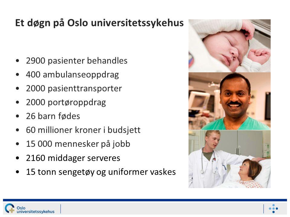 Et døgn på Oslo universitetssykehus