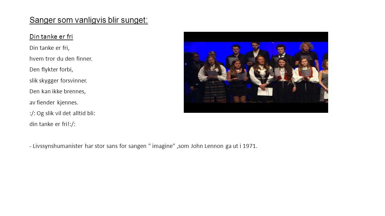 Sanger som vanligvis blir sunget: