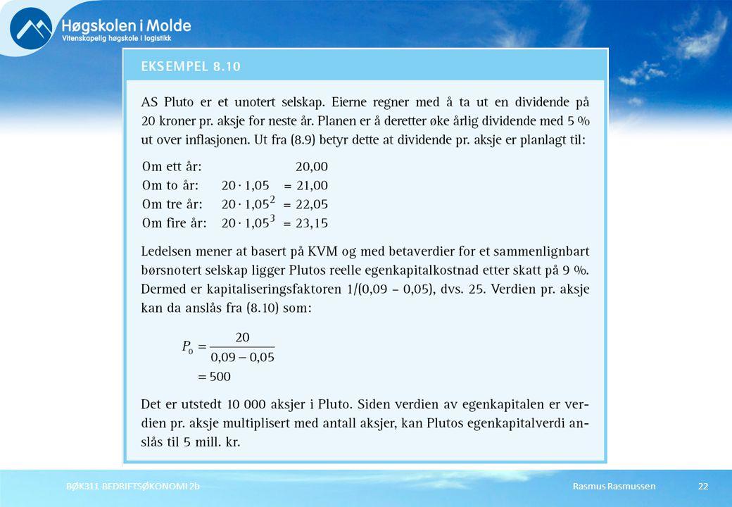 BØK311 BEDRIFTSØKONOMI 2b Rasmus Rasmussen