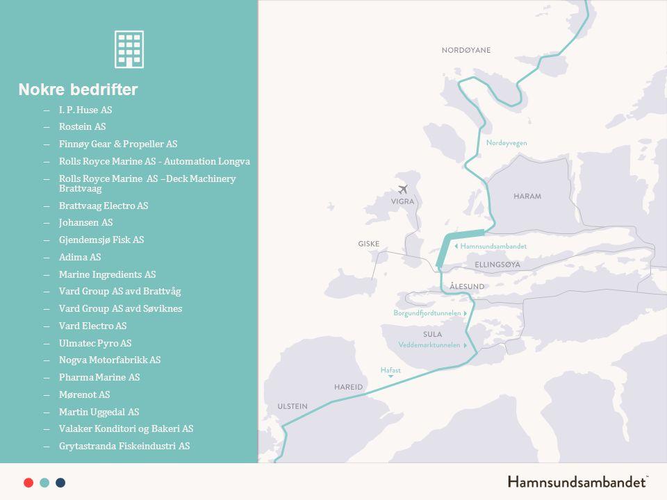 Nokre bedrifter I. P. Huse AS Rostein AS Finnøy Gear & Propeller AS