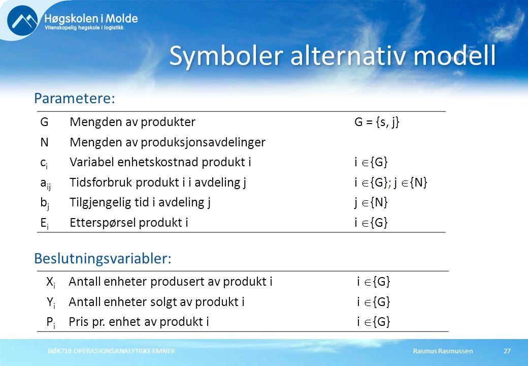 Symboler alternativ modell