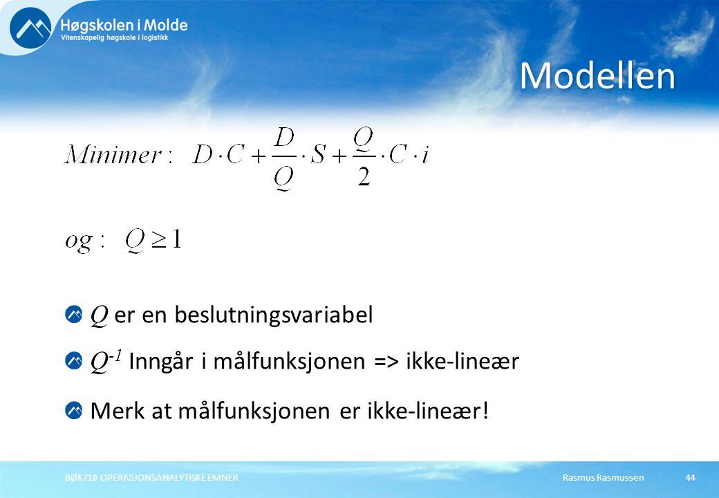 Modellen Q er en beslutningsvariabel