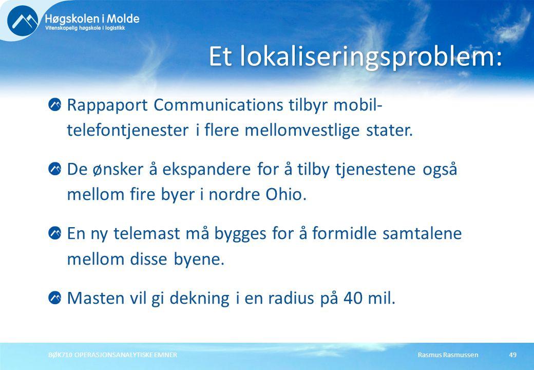 Et lokaliseringsproblem: