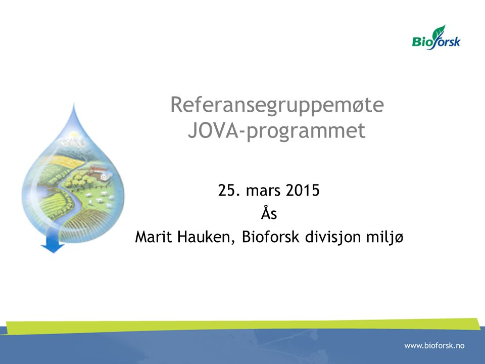 Referansegruppemøte JOVA-programmet