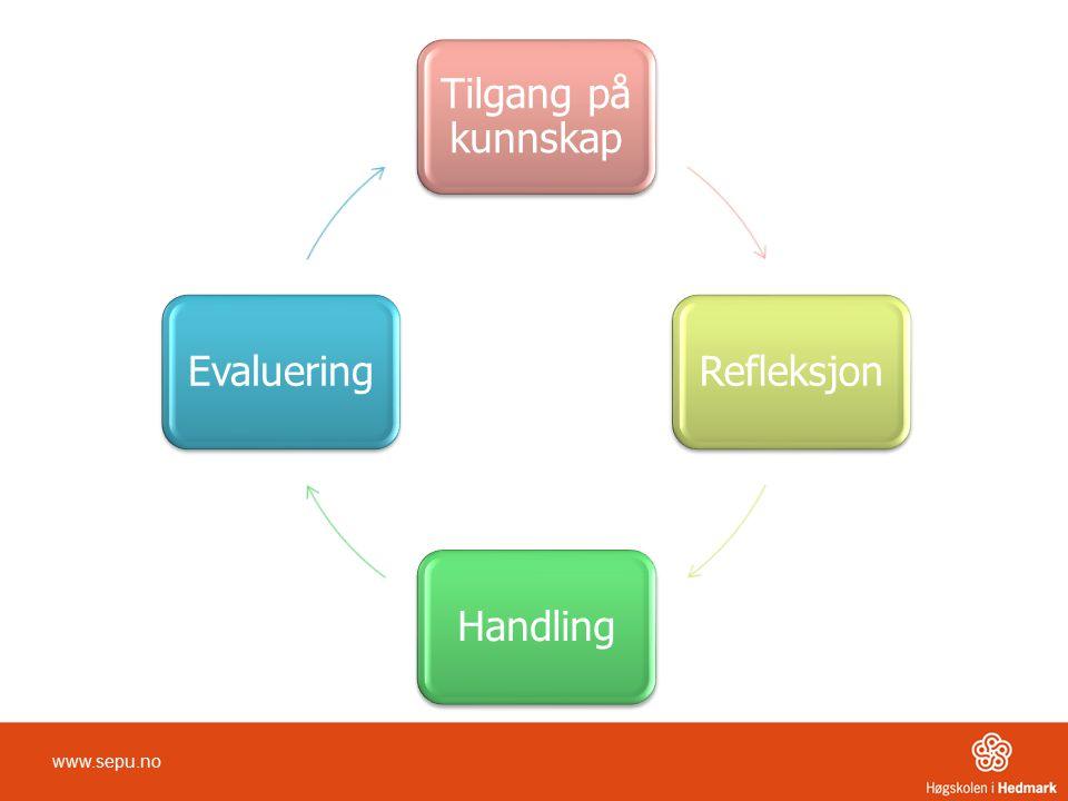 Tilgang på kunnskap Refleksjon Handling Evaluering www.sepu.no