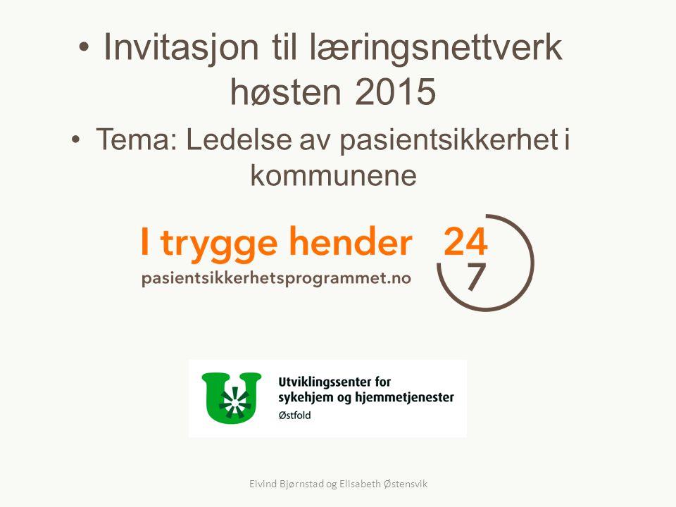Invitasjon til læringsnettverk høsten 2015