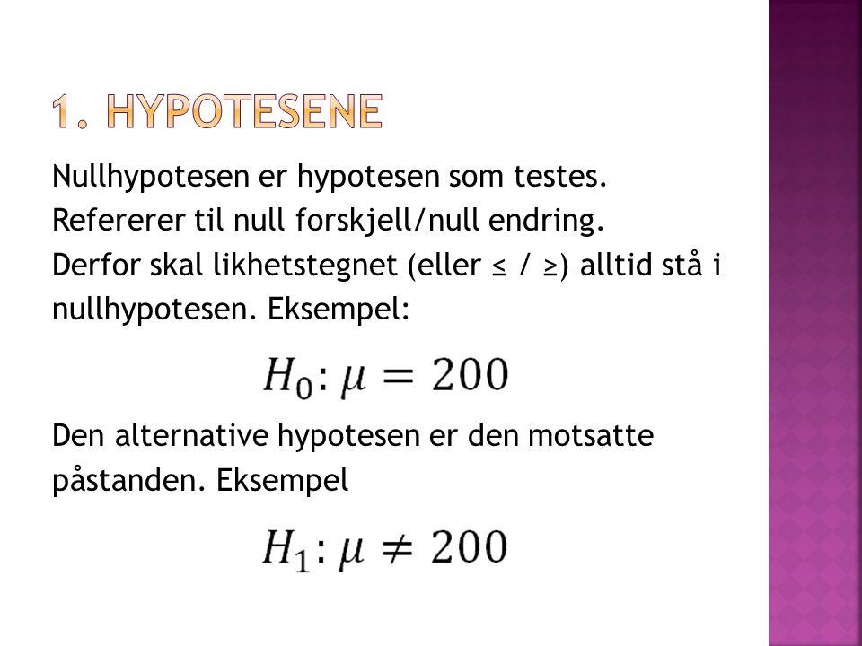 1. Hypotesene