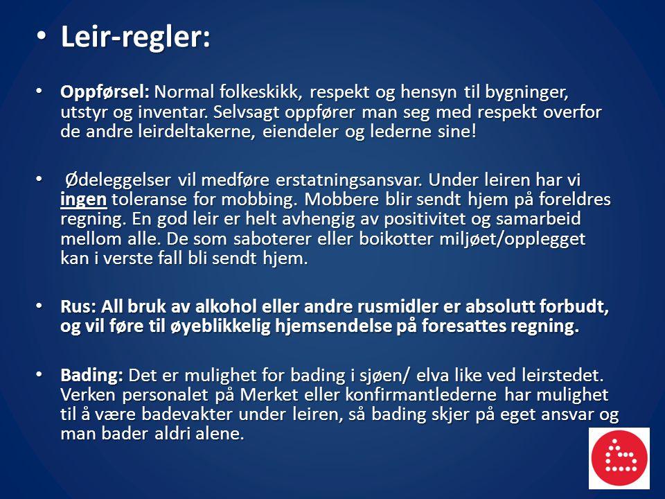 Leir-regler: