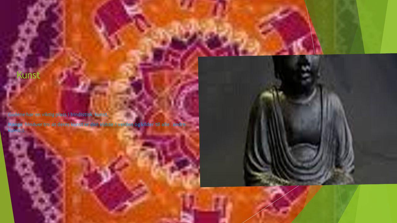 Kunst Gudene har en viktig plass i hindistisk kunst.