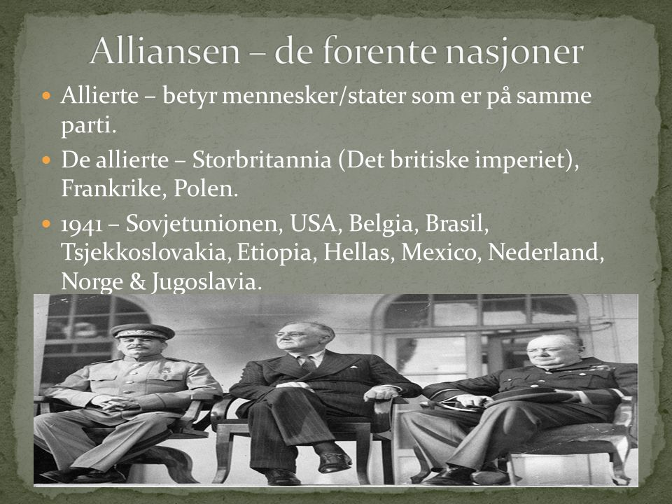 Alliansen – de forente nasjoner