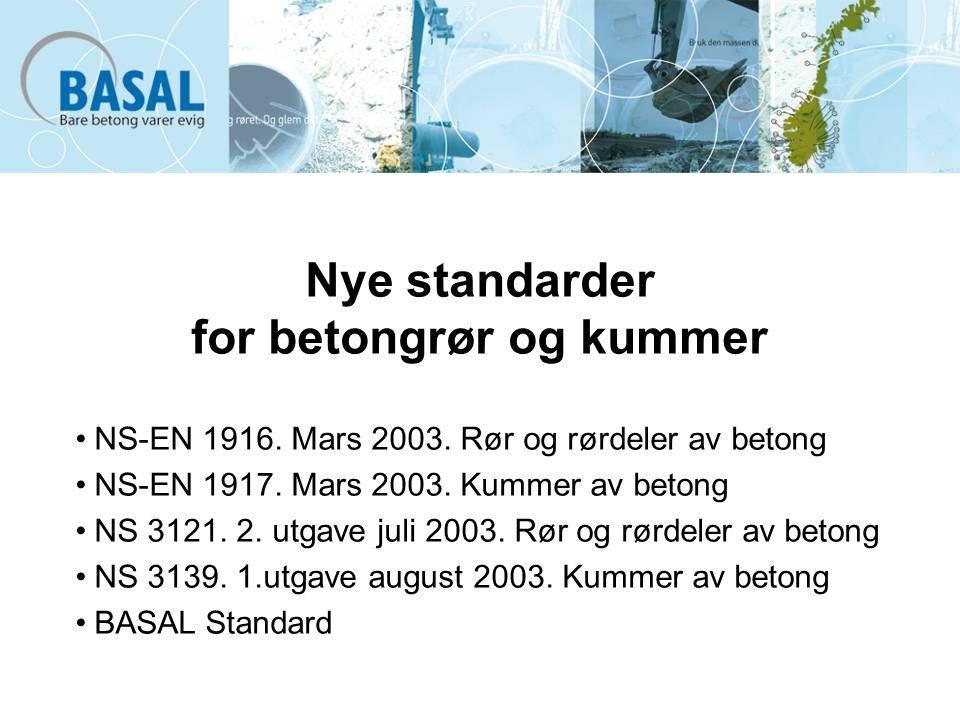Nye standarder for betongrør og kummer