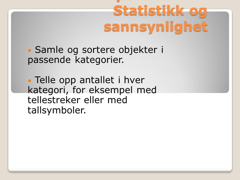 Kompetansemål: Statistikk og sannsynlighet