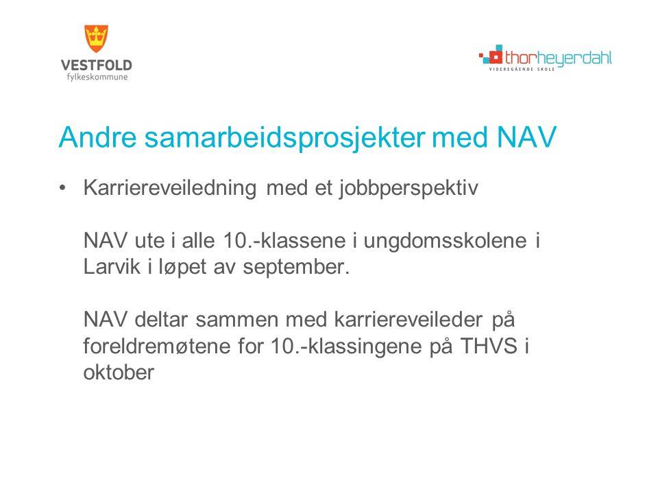 Andre samarbeidsprosjekter med NAV
