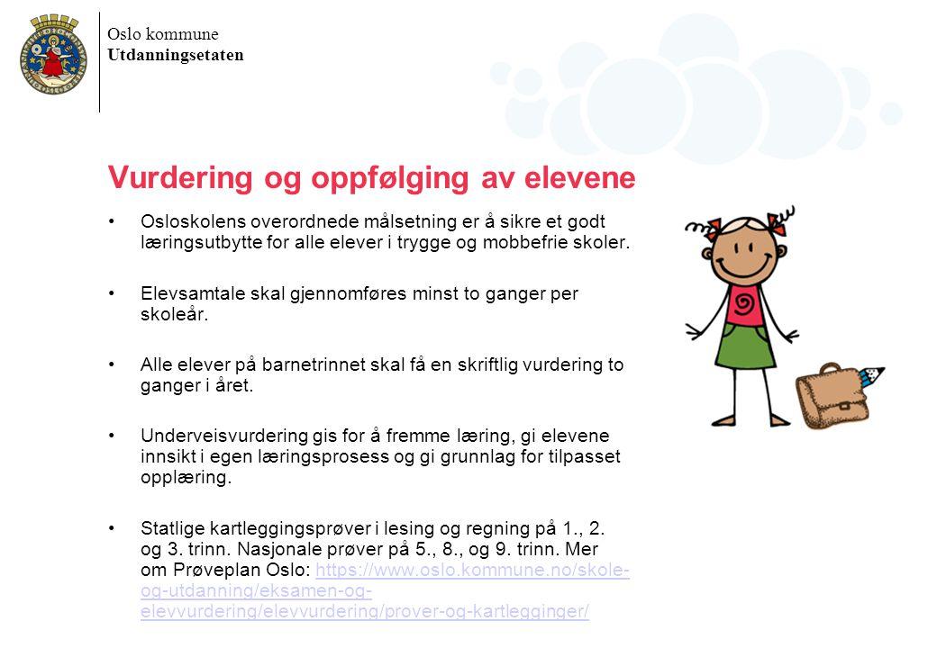 Vurdering og oppfølging av elevene