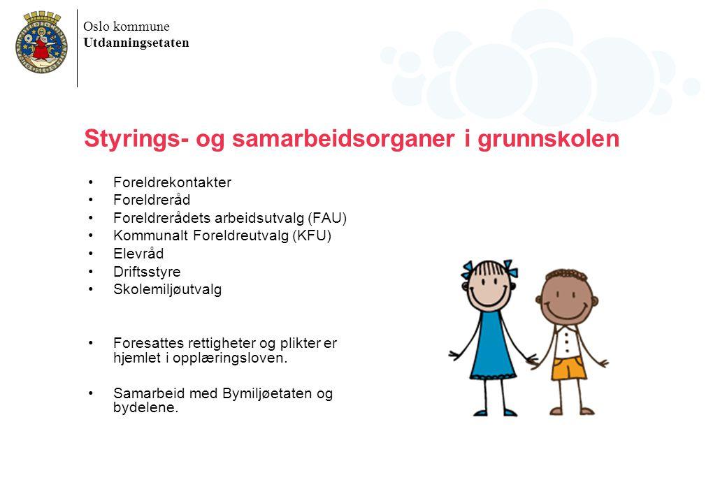Styrings- og samarbeidsorganer i grunnskolen