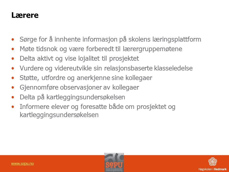 Lærere Sørge for å innhente informasjon på skolens læringsplattform