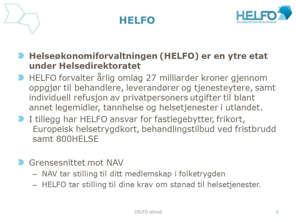 HELFO Helseøkonomiforvaltningen (HELFO) er en ytre etat under Helsedirektoratet.