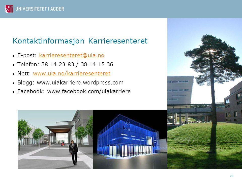 Kontaktinformasjon Karrieresenteret