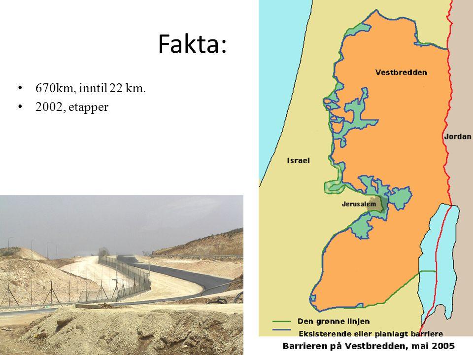 Fakta: 670km, inntil 22 km. 2002, etapper
