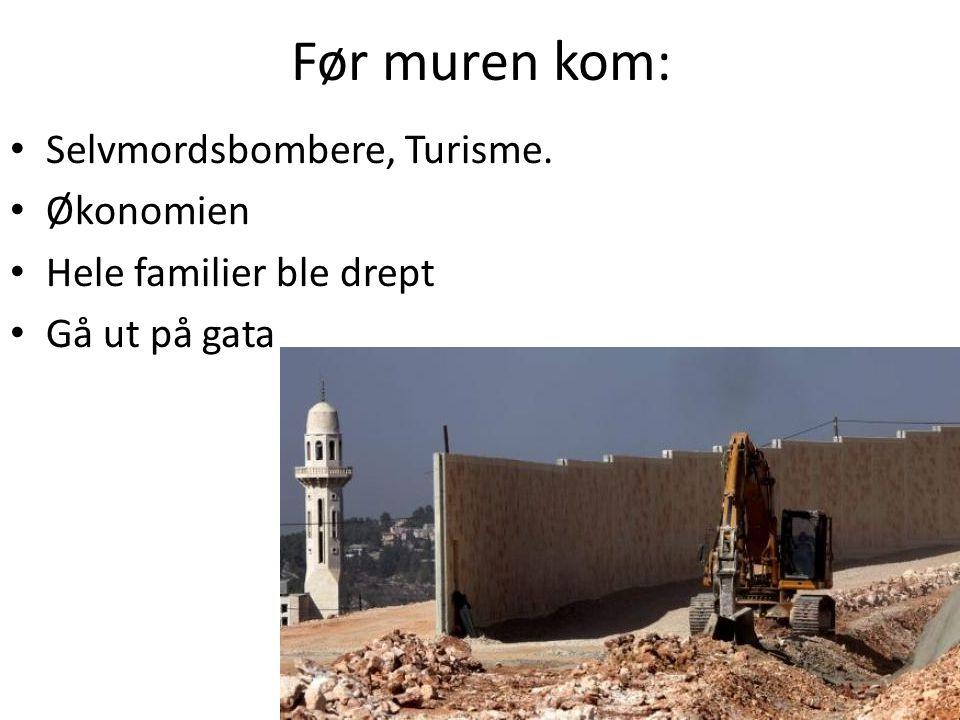 Før muren kom: Selvmordsbombere, Turisme. Økonomien