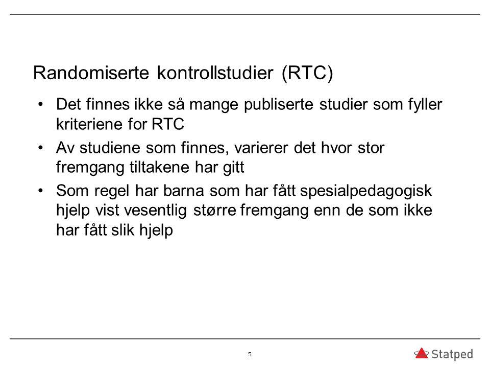 Randomiserte kontrollstudier (RTC)