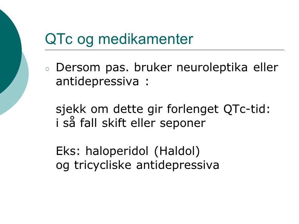 QTc og medikamenter