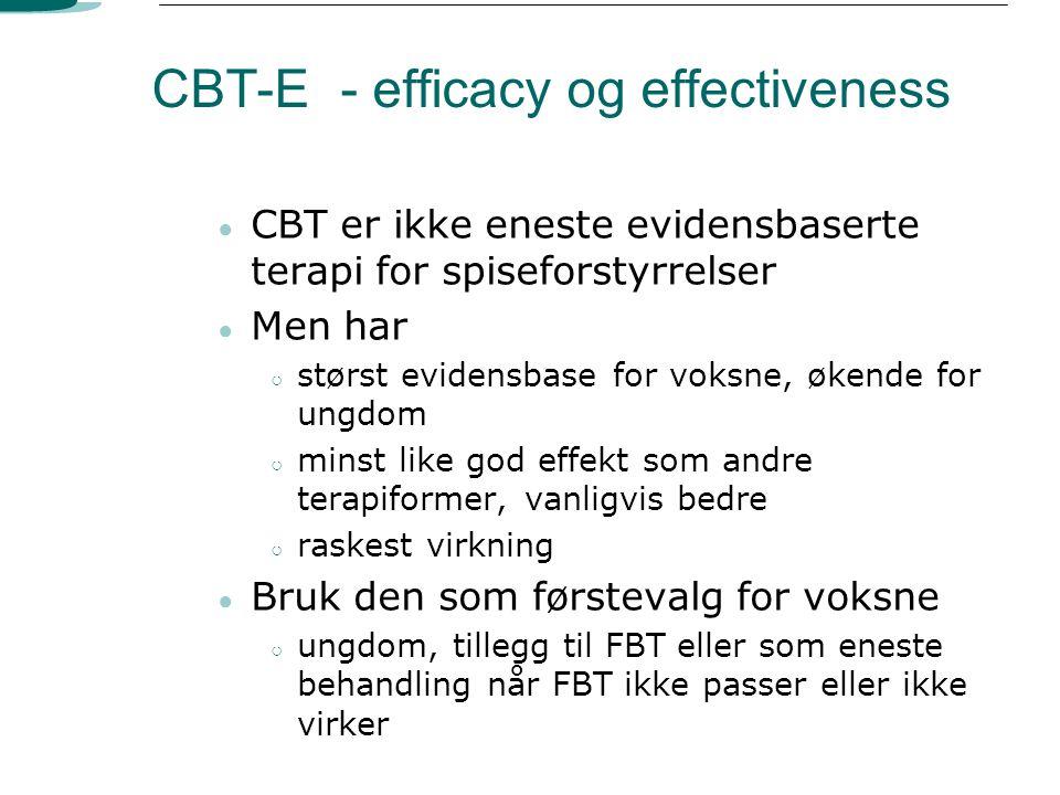 CBT-E - efficacy og effectiveness