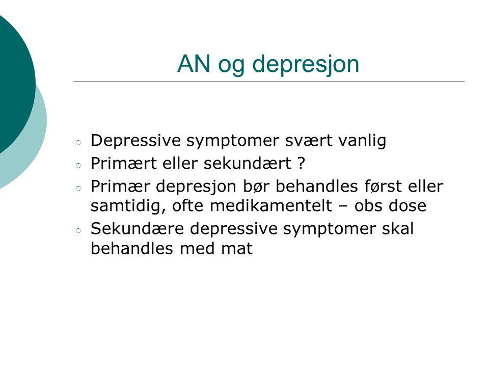 AN og depresjon Depressive symptomer svært vanlig