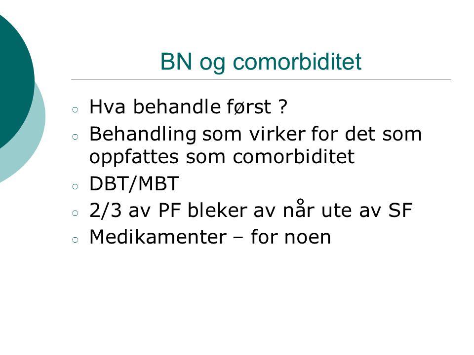 BN og comorbiditet Hva behandle først