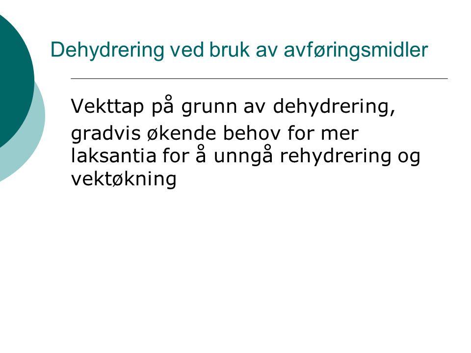 Dehydrering ved bruk av avføringsmidler