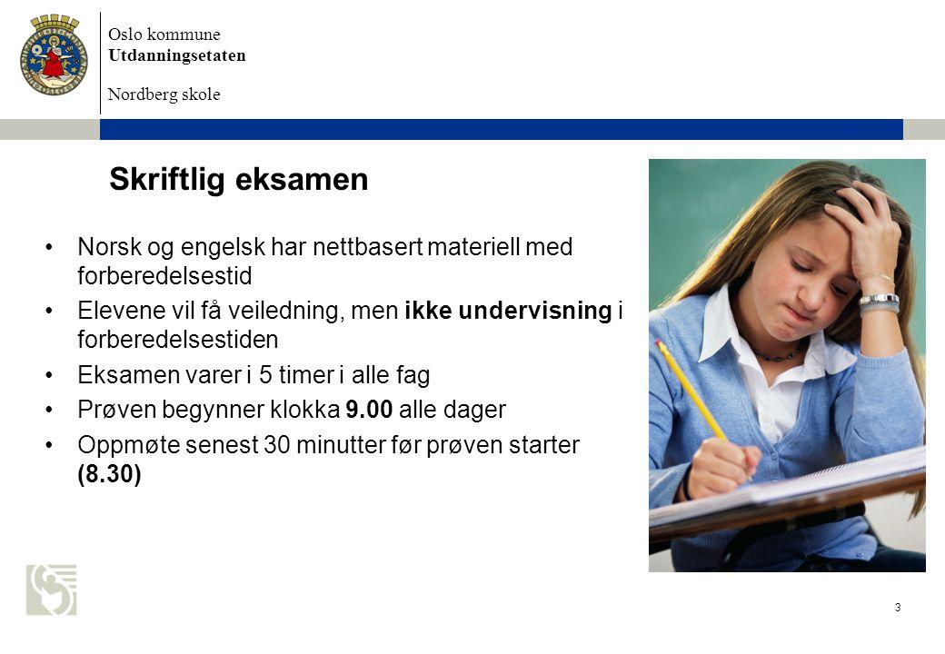 Skriftlig eksamen Norsk og engelsk har nettbasert materiell med forberedelsestid.