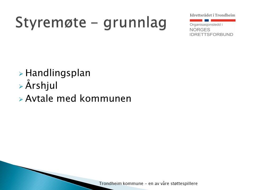 Styremøte - grunnlag Handlingsplan Årshjul Avtale med kommunen