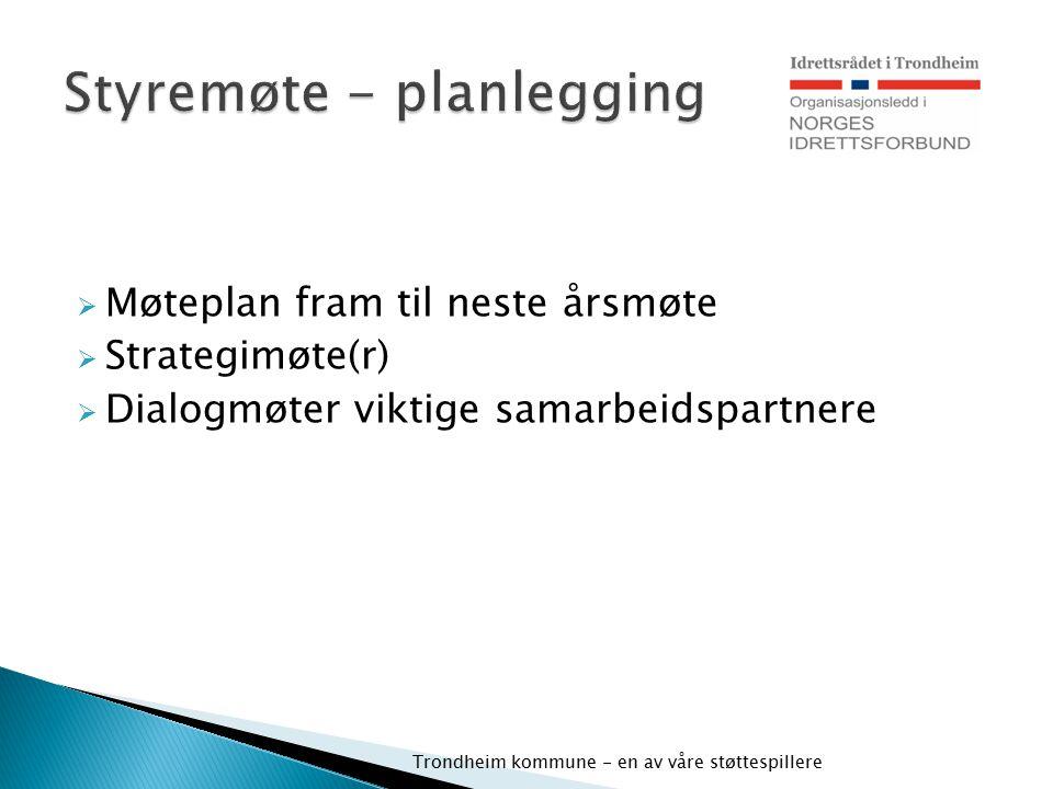 Styremøte - planlegging