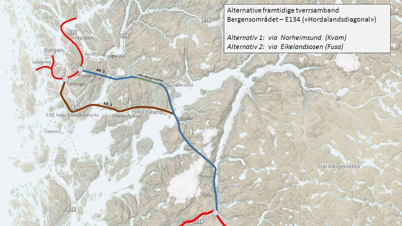 Alternativ 1: via Norheimsund (Kvam)