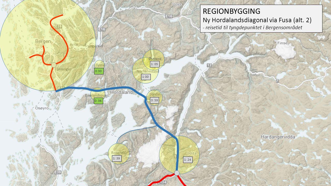 REGIONBYGGING Ny Hordalandsdiagonal via Fusa (alt. 2)
