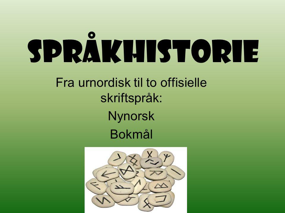 Fra urnordisk til to offisielle skriftspråk: Nynorsk Bokmål