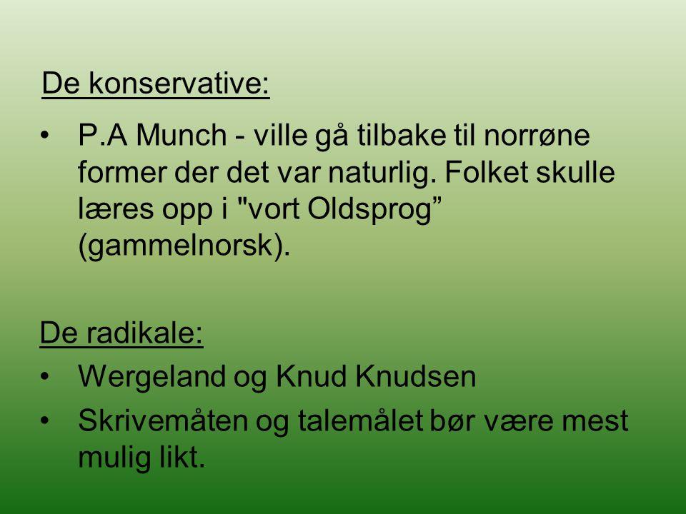 Wergeland og Knud Knudsen