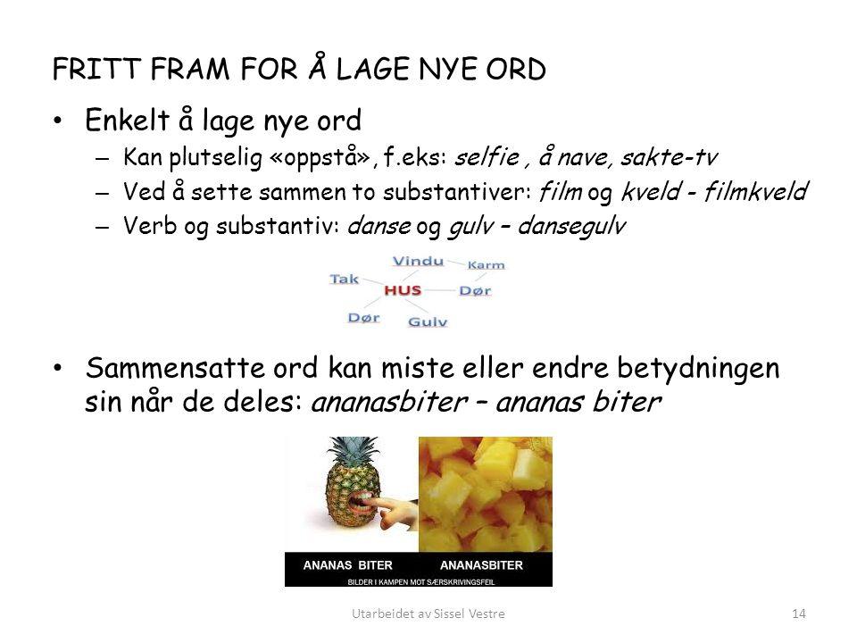 FRITT FRAM FOR Å LAGE NYE ORD