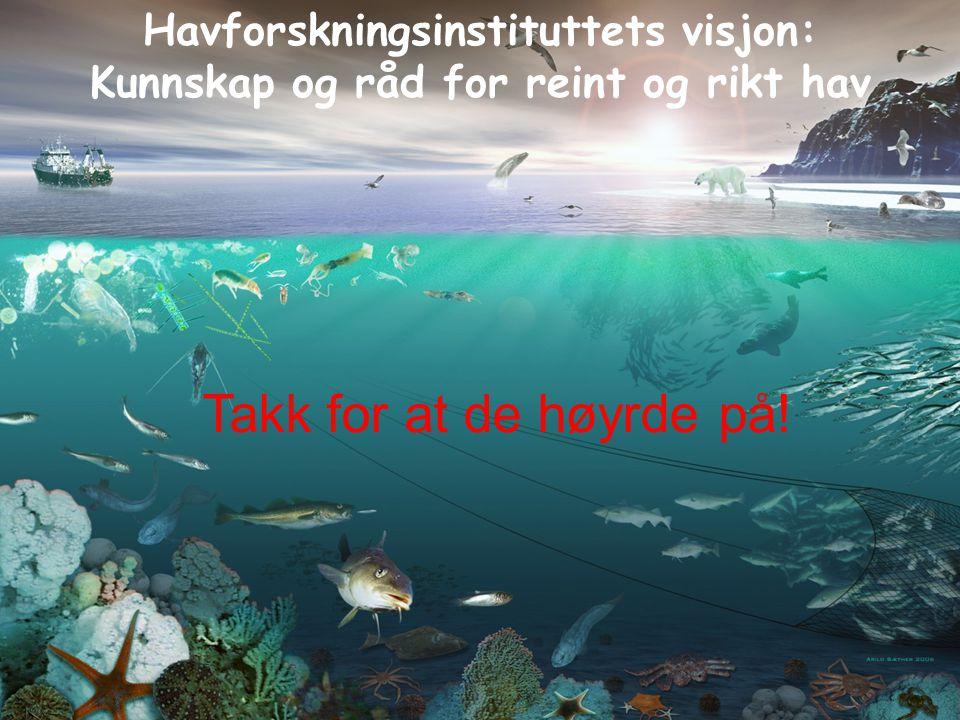 Takk for at de høyrde på! Havforskningsinstituttets visjon: