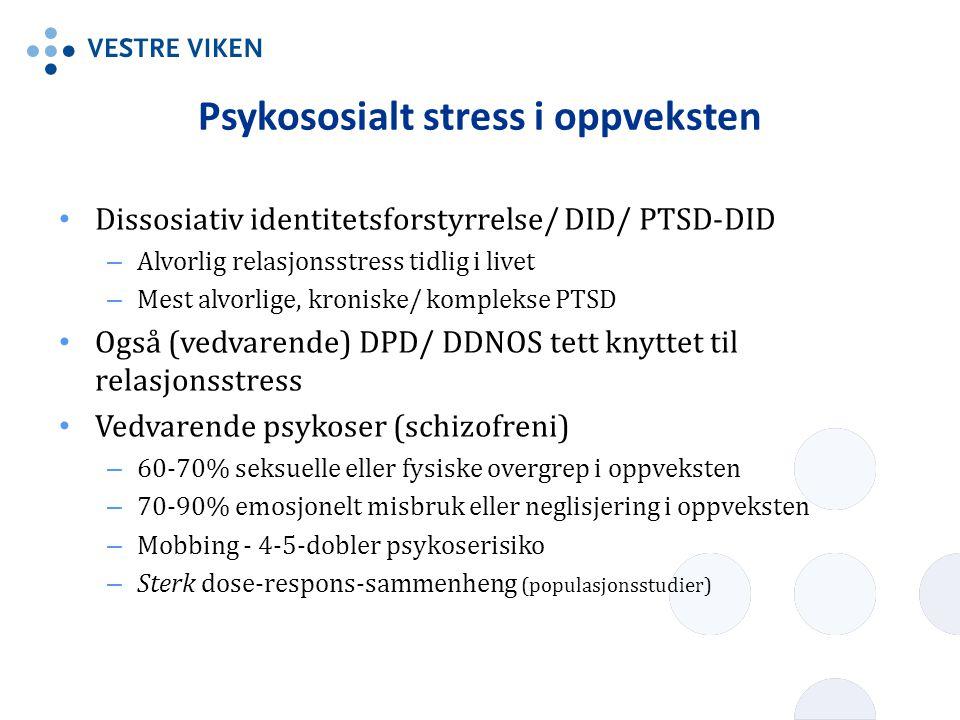 Psykososialt stress i oppveksten
