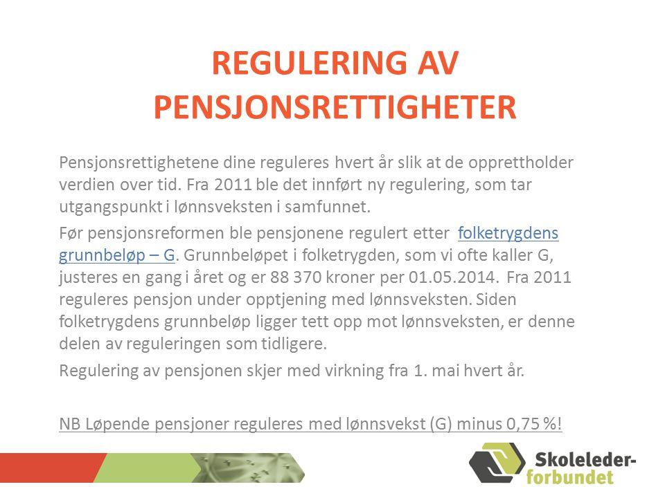 Regulering av pensjonsrettigheter