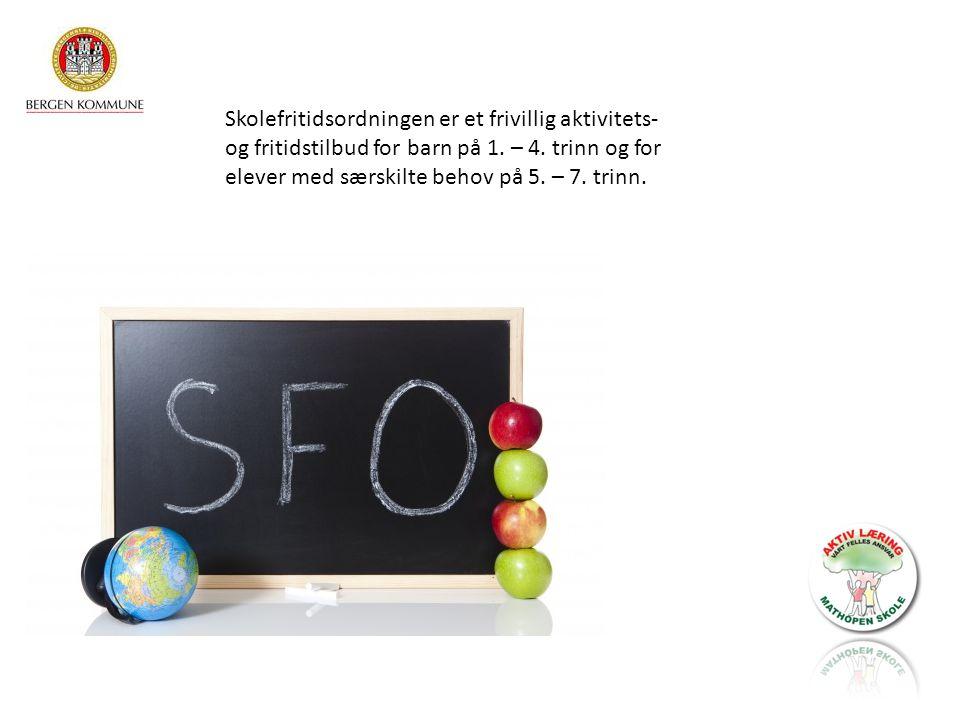 Skolefritidsordningen er et frivillig aktivitets- og fritidstilbud for barn på 1.