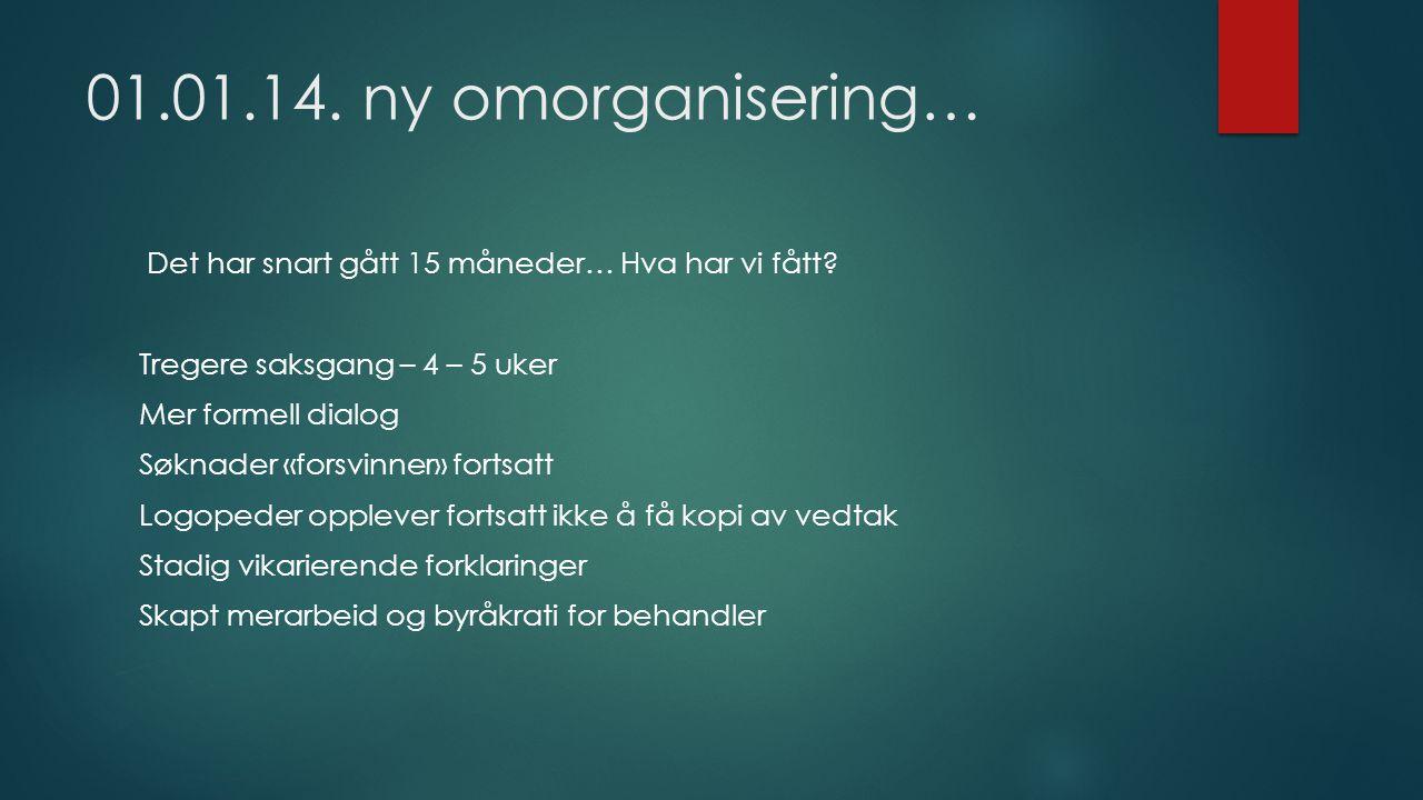 01.01.14. ny omorganisering…