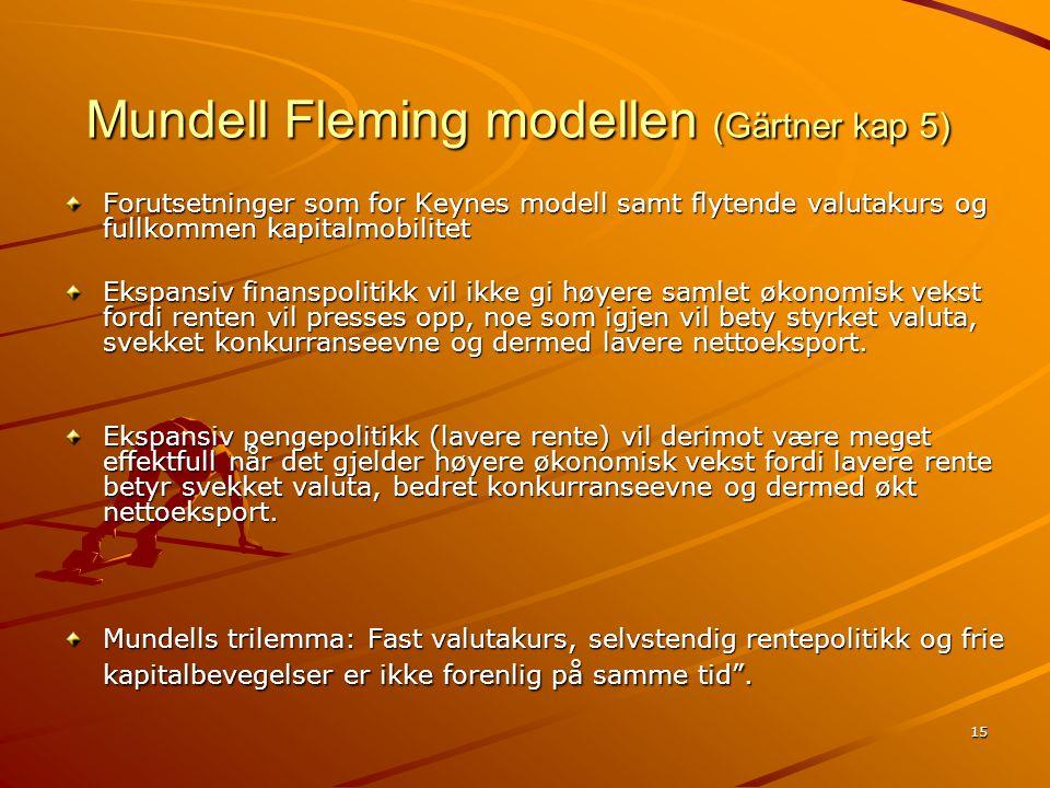 Mundell Fleming modellen (Gärtner kap 5)