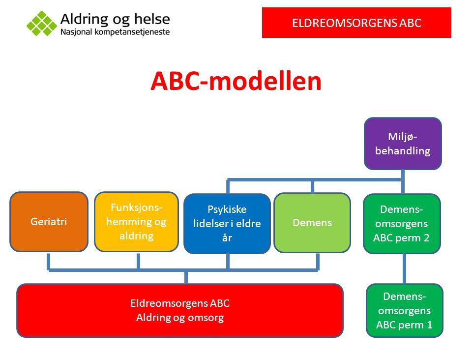 ABC-modellen ELDREOMSORGENS ABC Miljø-behandling Geriatri