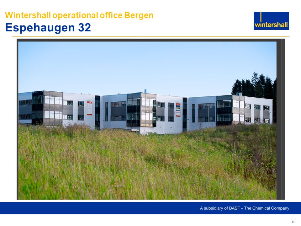 Wintershall operational office Bergen Espehaugen 32