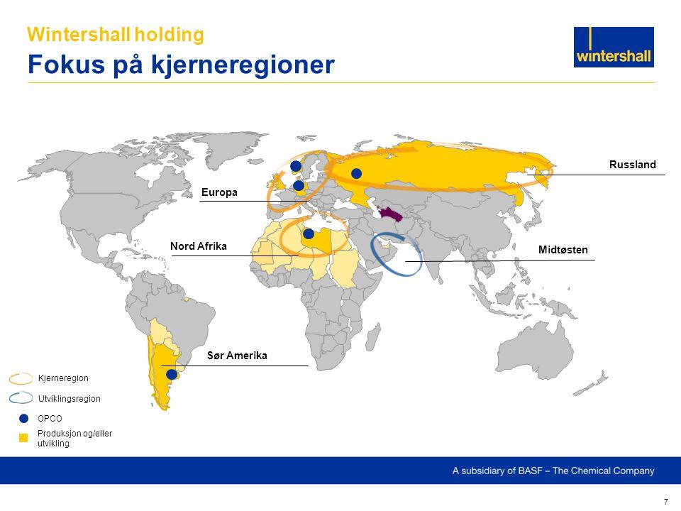 Wintershall holding Fokus på kjerneregioner
